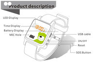 Fashion latest product arrival! New Bluetooth OLED wrist watch for Smart phone accessory