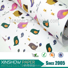 2015 advanced style and fashionable designs gift wrapping paper sheet