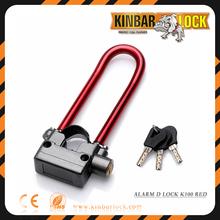 Bike alarm padlock