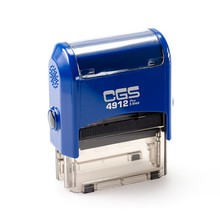 CGS 4912 Self Inking Stamps&Trodat Stamp (Size:47x18mm BLUE BODY)