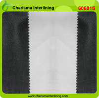 100% cotton interlining glued woven fusing fabrics for collar fusible interfacing from the factory collar interlinig