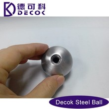 19mm to 100mm stainless steel hollow ball nut , 201 304 stainless steel ball with threaded insert nut inside