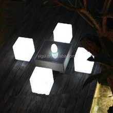 factory direct sale Colorful Square LED Cube Table,LED Cube Chair