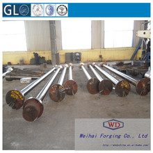 Top quality hot forging carbon steel stern shaft