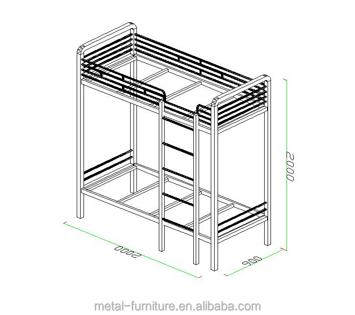 Metal Military Bunk Bed For Adult Metal Military Bunk Bed For