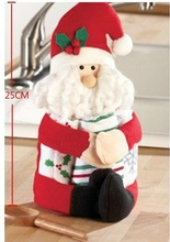 China manufacturer party/weeding ornaments animated indoor christmas decoration sitting santa