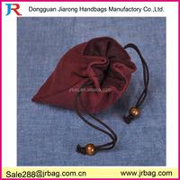 Soft flax plush lining jewelry pouch