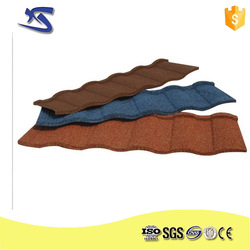 Sancidalo China villa building material Metal colorful stone coated steel roofing sheet/roof tile