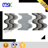marble material waterjet mosaic tile - different stones perfect combination