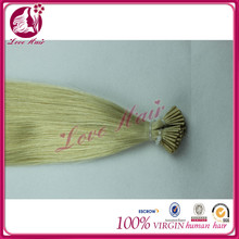 All in same direction all women's i-tip hair showing blonde color #60 hair imports from qingdao love hair company