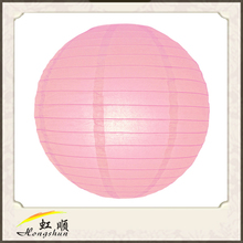 30'' Pink chinese fabric lantern different sizes for festival decoration hanging craft