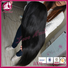 Unprocessed precious wedding thick 180%density hair consentaneous full lace wig admiration free parting black color hair