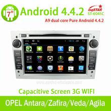 çin fabrika android 4.4 araba için otomatik radyo gps opel Antara/zafira/veda/agila/corsa/vectra ses sistemi