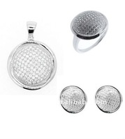 Luxurious 925 Sterling Silver Micro pave setting jewelry/XIN CHUANG YI