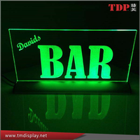 Manufacturer Custom Acrylic LED Edge Lit Sign for Advertising with Change Colors, RGB Remote Controlled