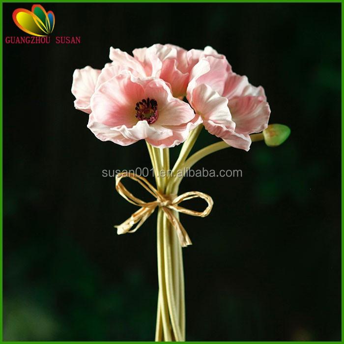 Hot Sale Real Touch Flower Poppy Flower Poppy Bouquet Fake Poppy ...