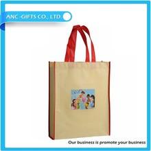 logo printed promotional non woven bag low price shopping carrier bag cheap non woven bag
