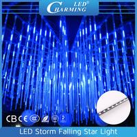 rain drop christmas hanging crystal led meteor shower lights