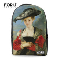 2015 Hot Sale high school backpack, backpack for school with Beautiflu Lady image