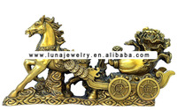 Brass Material Chinese luckly horse ,Fengshui Horse bronze statues for sale