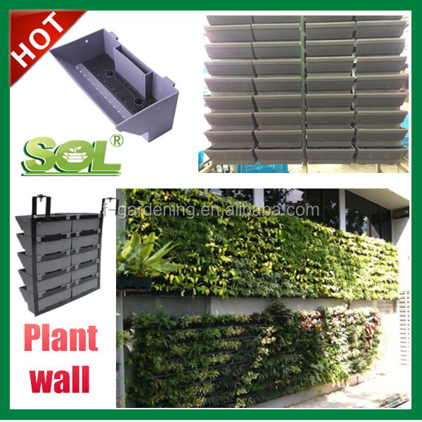Cheap plastic wall cover supplier fake wall hanging plant for Cheap vertical garden
