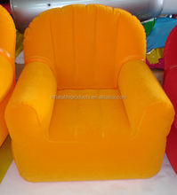Deluxe Sofa Furniture Inflatable Flocking Pvc Lounge Relax Sofa