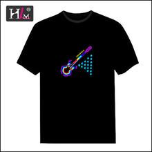 2015 new fashion china Manufacturers el led equalizer leucht t-shirt for man