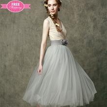 ShiJ 2015 Hot Sales Angel Style Cheap A-line V-neck Knee length Chiffon Lace Bridemaids Dresses