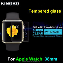 2015 Original Clear ultra thin 38mm 9H tempered glass screen protector 100% perfect fit for apple watch