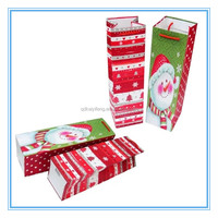 fancy christmas paper wine glass gift bags