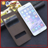 high quality smart phone wallet leather view case for iphone 6s