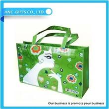 Promotional Fashion Logo Customized Laminated PP Non-woven Shopping Bag