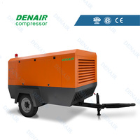 Diesel mobile screw air compressor 7~13bar