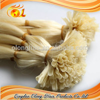Good-quality Virgin Peruvian Human Hair Weaves, I-tip, U-tip, Flat Tip Hair, Wholesale Price