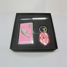 keychain pen business gift set with Innovative business card holder