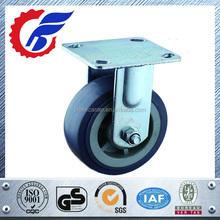 grey rubber fixed wheel caster for heavy duty castor wheel