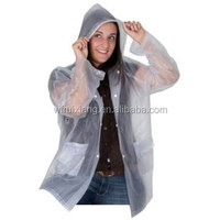 Disposable PE raincoat/Poncho with high quality