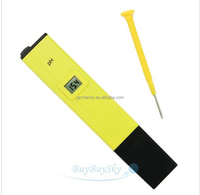 Yellow Pocket LCD Digital PH-009 0-14 Tester Meter Monitor Pen Type Aquarium Accurate Pool Water Laboratory Measure with Battery