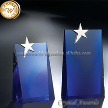 crsytal trophy and awards with star