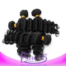 America virgin brazilian human hair weaves extension, natural black color wave hair weft on sales