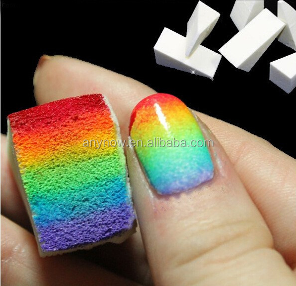 Beauty Salon Nail Art Painting Color Gradient Design Triangle Sponge