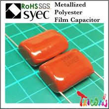Capacitor Manufacturer MEF 104J 400V Metallized Polyester Film Capacitor