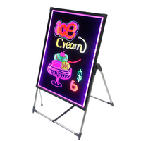 Advertising Equipment 60*40CM led poster writing board led sign board for Promotional Events