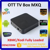 Cheap MXQ Android TV Box Digital Satellite Receiver