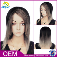Hot sale american style cheap white long cosplay ombre wig new 2015