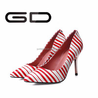 new arrival design women shining colorful ladies pumps shoes
