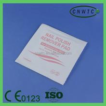 Consumable 3x6 cm Acetone Free Nail Polish Remover Wipe