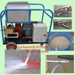 High pressure ship hull cleaning paint rust remove sandblaster