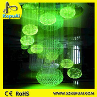 Contemporary art lighting end glow fiber optic pendant lights