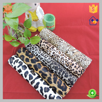 leopard printed pvc leather for glasses box